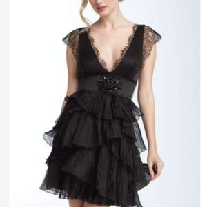 BCBG MaxAzria Lace Organza Dress